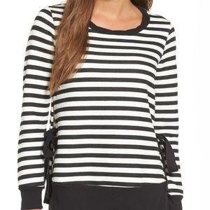 Fun Striped Side Tie Sweatshirt from Gibson
